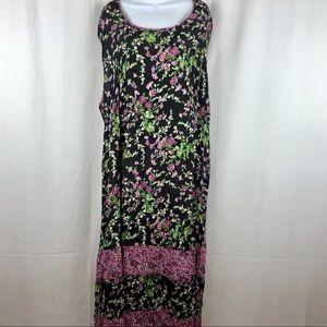 Victoria Holley floral rayon midi dress 2XL